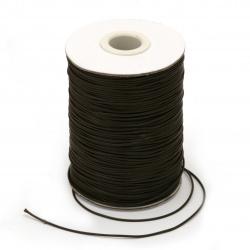 Шнур памук Корея 1 мм кафяв -180 метра
