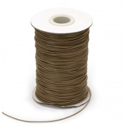 Cotton cord Korea 1 mm beige dark -10 meters