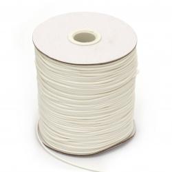 Шнур памук Корея 1.5 мм бял -10 метра