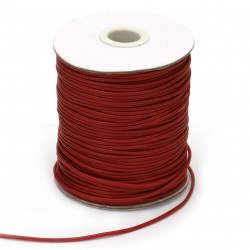 Шнур памук Корея 1.5 мм червен -10 метра