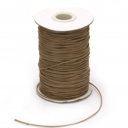 Шнур памук Корея 1.5 мм бежов тъмен  -10 метра