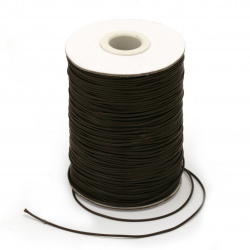 Cord cotton Korea 1.5 mm brown dark -10 meters