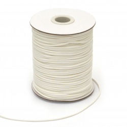 Cotton cord Korea 2 mm white -10 meters