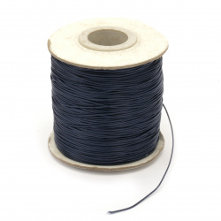 Полиестер шнур /конец/ Корея 0.5 мм цвят син тъмен -1 метър