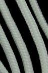 Cablu rotund 3 mm slab K alb - 30 metri
