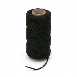 Snur papiota  2,5 mm K negru -50 metri