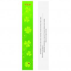 Suport carton 3/19 cm culoare lucioasă cu inscripție și descriere - 100 bucăți