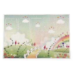 Подложка картон гланциран цветен 15/20 см за детски мартеници -10 броя