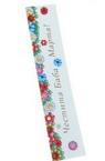 Стикер самозалепващ 3/14 см цветни с надпис-10 броя