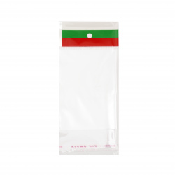 Целофанов плик 7/10+3 см капак залепващ щендер трибагреник -100 броя