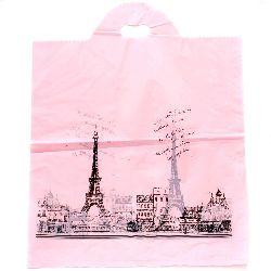 Punga din material PE 53x45 cm roz Paris