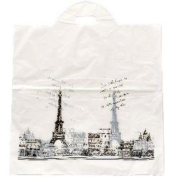 Торбичка от PE материал 53x45 см бяла Париж