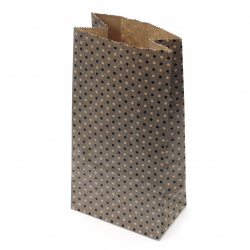 Paper gift bag with bottom 9x5.5x18 cm dots -12 pieces