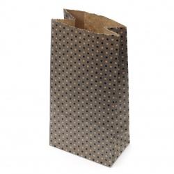 Хартиен плик за подарък с дъно 9x5.5x18 см точки -12 броя