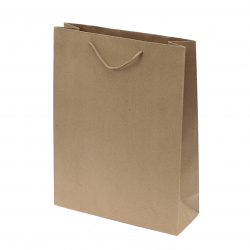 Paper Gift Bag Raw Color 28x39x10 cm