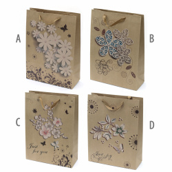 Paper Gift Bags 32x44x12 cm Mixed Decorations and Colors