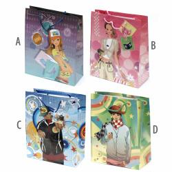 Geantă cadou din carton de 26x32 cm asortiment pentru copii