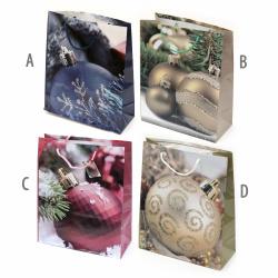 Geantă cadou din carton 26x32x10 cm Christmas Assorte