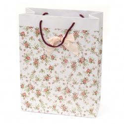 Geantă carton  cadou desen flori  266x350x114 mm