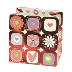 Geantă cadou din carton 142x142x98 mm