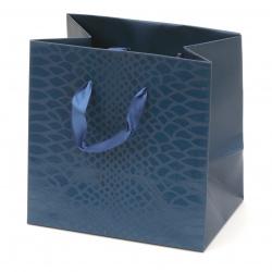 Gift Bag 140x140x100 mm Blue