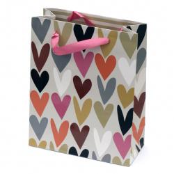 Gift Bag 196x245x88 mm hearts