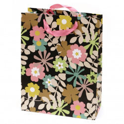 Gift Bag Flowers 266x350x114 mm