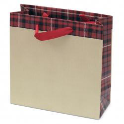 Торбичка подаръчна от картон 200x200x80 мм