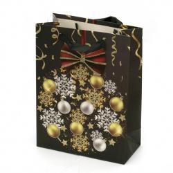 Торбичка подаръчна от картон 18x24x8.5 см Коледа АСОРТЕ 3D
