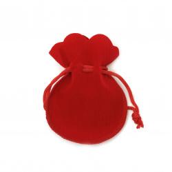 Punga pentru  bijuterii 62x70 mm roșie