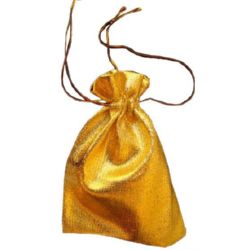 Fabric Jewellery Gift Back 120x160 mm gold