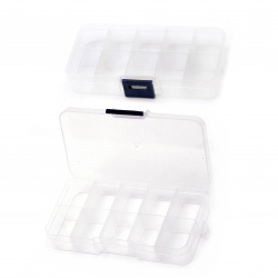 Organiser Storage Plastic Box 13x7x2.2 cm 10 compartments