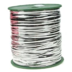 Metal band 4 mm color silver -1 meter