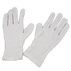 Ръкавици памук 23x8 см цвят бял