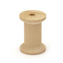 Макара дърво 45x30 мм дупка 7 мм