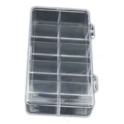 Box transparent 18x9.5x3 cm with 10 compartments