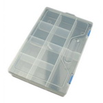 Plastic box 30x20x6.3 cm with movable partitions up to 10 compartments