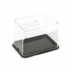 9.9x6.9x7 cm plastic box separate lid with cork inside