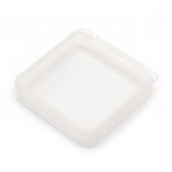 Cutie de plastic 5.4x5.4x1.2 cm