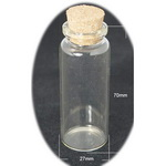 Glass Bottles, with Cork Tampions, Bead Containers30x70 mm 65 ml
