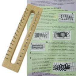 Форма за плетене на шал 160x40x35 мм дървена