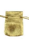 Jewelry bag 50x75 mm mini gold