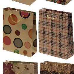 Gift bag made of cardboard 19x24.5 cm colored assortments
