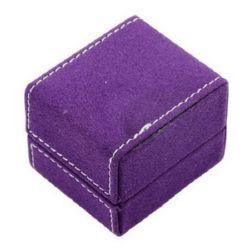 Cutie pentru  bijuterii 5,3x4,7x4,2 cm catifea mov