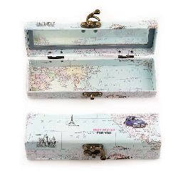 Jewelry Box with mirror and metal clasp 19x5.6x4.5 cm Best Wishes assorted color