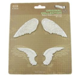 Scrapbook Decoration Set, Resin, Wings