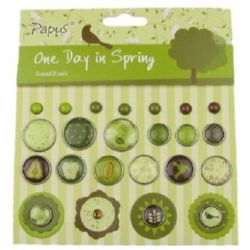 Brads for Scrapbooking & Decoration, 23 pieces