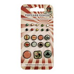 Brads for Scrapbooking & Decoration Vintage Circus 21 pieces