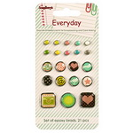 Brads for Scrapbooking & Decoration Everyday 21 pieces