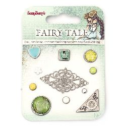 Brads for Scrapbooking & Decoration Fairy Tale 11 pieces